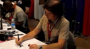 Charlie Adlard (Walking Dead) en dédicace au 40eme festival de BD d'Angoulême