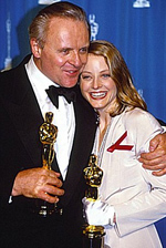 Anthony Hopkins et Jodie Foster Oscars