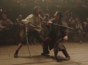 Combat entre Kai et Oishi dans 47 Ronin