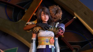 tidus et yuna dans les bras