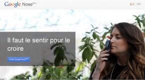 Google Nose, le poisson d'avril par Google